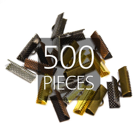 500pcs,20mm,(3/4),Ribbon,Clamp,End,Crimps,20mm ribbon clamps, 3 4 ribbon clamps, ribbon clamps, ribbon crimps, ribbon ends, ribbon findings, bulk ribbon clamps