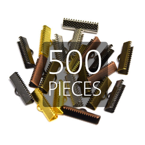 500pcs,22mm,(7/8),Ribbon,Clamp,End,Crimps,22mm ribbon clamps, 7 8 ribbon clamps, ribbon clamps, ribbon crimps, ribbon ends, ribbon findings, bulk ribbon clamps