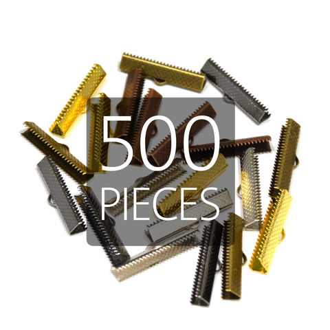 500pcs,25mm,(1),Ribbon,Clamp,End,Crimps,25mm ribbon clamps, 1 ribbon clamps, ribbon clamps, ribbon crimps, ribbon ends, ribbon findings, bulk ribbon clamps