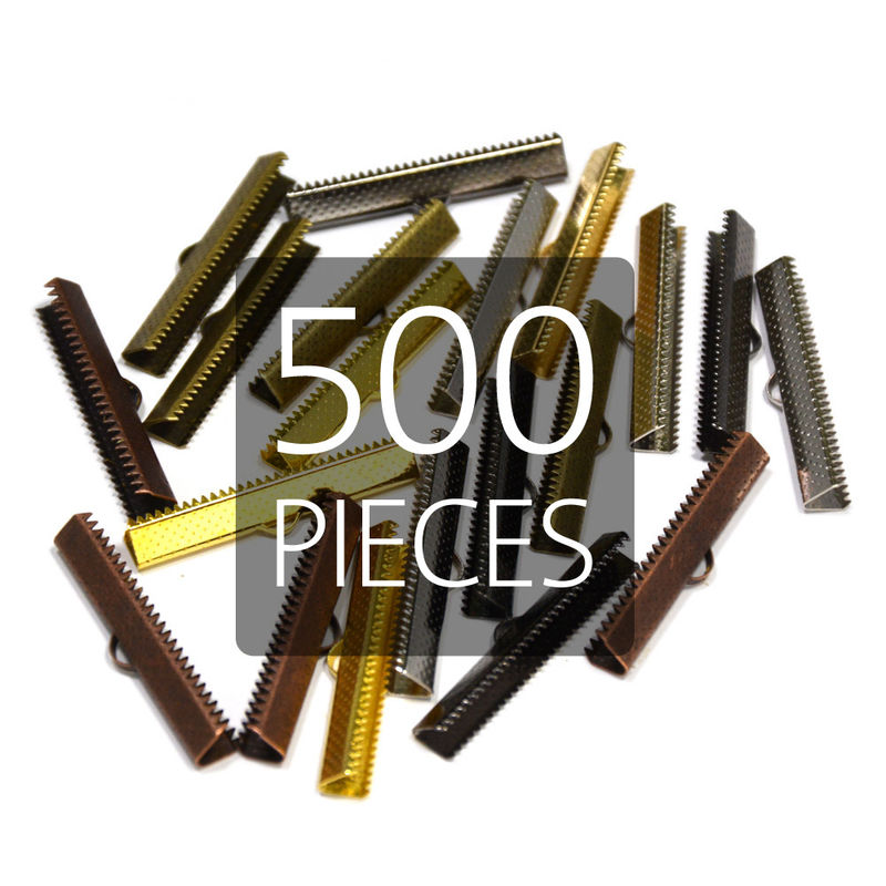 "500pcs 38mm (1 1/2"") Ribbon Clamp End Crimps - product images  of"