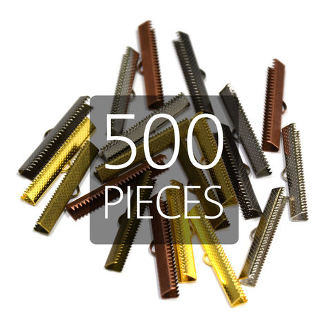 500pcs,40mm,(1,9/16),Ribbon,Clamp,End,Crimps,40mm ribbon clamps, 1 9 16 ribbon clamps, ribbon clamps, ribbon crimps, ribbon ends, ribbon findings, bulk ribbon clamps
