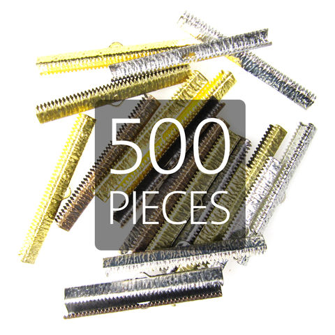 500pcs,50mm,(2),Ribbon,Clamp,End,Crimps,50mm ribbon clamps, 2 ribbon clamps, ribbon clamps, ribbon crimps, ribbon ends, ribbon findings, bulk ribbon clamps