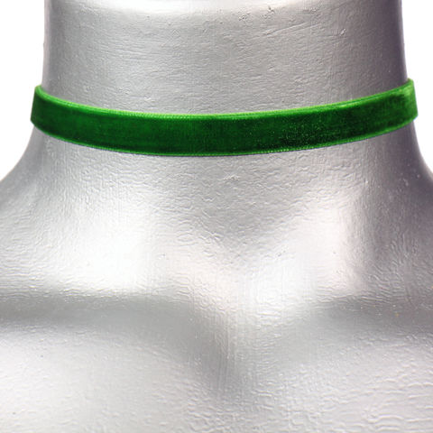 10mm,(3/8),Plain,Emerald,Green,Velvet,Ribbon,Choker,Necklace,green velvet choker, green choker, green ribbon choker, ribbon choker, velvet choker, ribbon choker necklace
