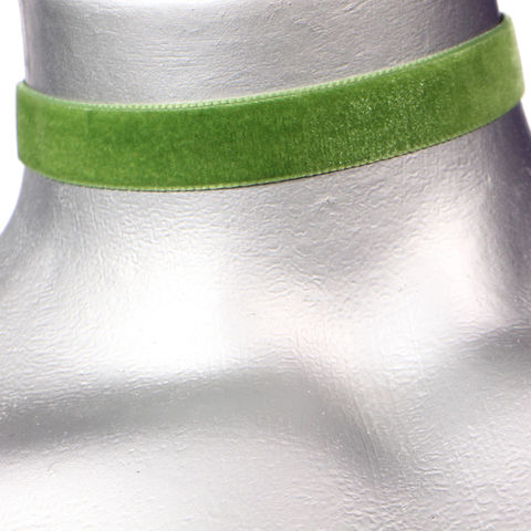 16mm,(5/8),Plain,Light,Green,Velvet,Ribbon,Choker,Necklace,green velvet choker, green choker, green ribbon choker, ribbon choker, velvet choker, ribbon choker necklace