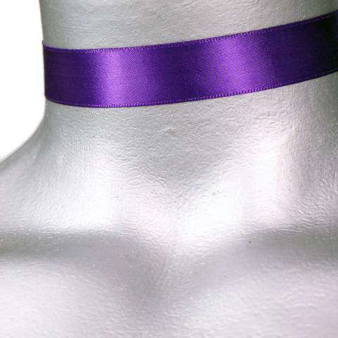 16mm,(5/8),Plain,Purple,Satin,Ribbon,Choker,Necklace,purple satin choker, purple choker, purple ribbon choker, ribbon choker, satin choker, ribbon choker necklace