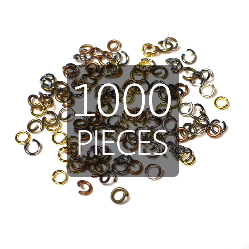 1000 4mm Lead and Nickel Free Open Jump Rings - product images  of