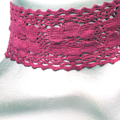 50mm,(2),Mauve,Purple,Cluny,Lace,Ribbon,Choker,Necklace,purple lace choker, purple choker, purple ribbon choker, ribbon choker, lace choker, ribbon choker necklace