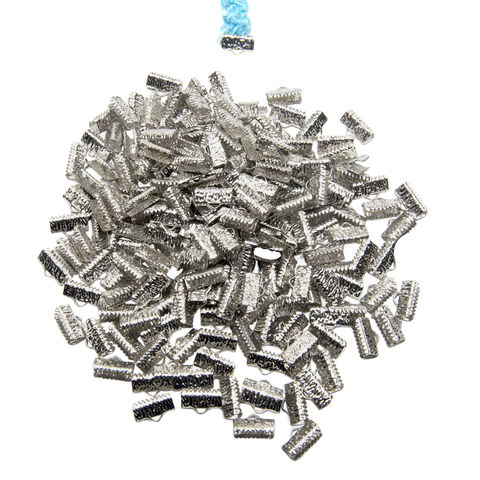 13mm,(1/2),-500pcs-,Platinum,Silver,Ribbon,Clamps,-,Artisan,Series,13mm ribbon clamps, 1/2 inch ribbon clamps, ribbon clamps, ribbon crimps, ribbon ends, ribbon findings, bulk ribbon clamps, crimps, crimp ends, 13mm