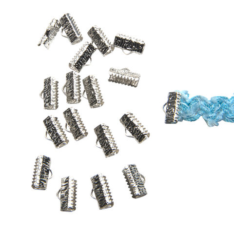 13mm,(1/2),-150pcs-,Platinum,Silver,Ribbon,Clamps,-,Artisan,Series,13mm ribbon clamps, 1/2 inch ribbon clamps, ribbon clamps, ribbon crimps, ribbon ends, ribbon findings, bulk ribbon clamps, crimps, crimp ends, 13mm