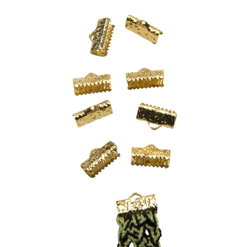 "13mm (1/2"") -50 pcs- Gold Ribbon Clamps - Artisan Series - product images  of"