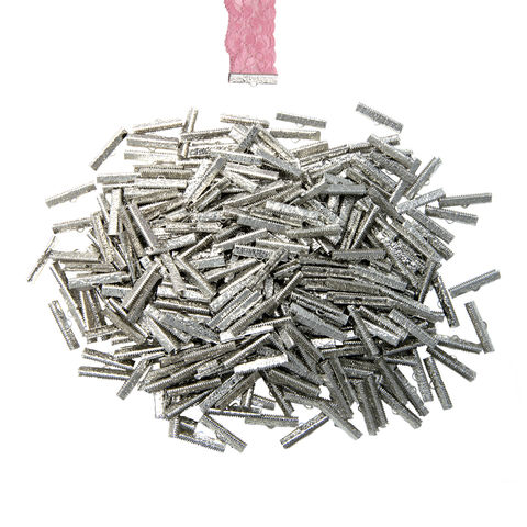 30mm,(1,3/16),-500pcs-,Platinum,Silver,Ribbon,Clamps,-,Artisan,Series,30mm ribbon clamps, 1 3/16 inch ribbon clamps, ribbon clamps, ribbon crimps, ribbon ends, ribbon findings, bulk ribbon clamps, crimps, crimp ends,
