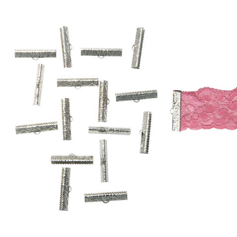 30mm,(1,3/16),-150pcs-,Platinum,Silver,Ribbon,Clamps,-,Artisan,Series,30mm ribbon clamps, 1 3/16 inch ribbon clamps, ribbon clamps, ribbon crimps, ribbon ends, ribbon findings, bulk ribbon clamps, crimps, crimp ends,