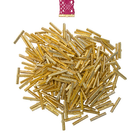 38mm,(1,1/2),-500pcs-,Gold,Ribbon,Clamps,-,Artisan,Series,38mm ribbon clamps, 1 1/2 inch ribbon clamps, ribbon clamps, ribbon crimps, ribbon ends, ribbon findings, bulk ribbon clamps, crimps, crimp ends