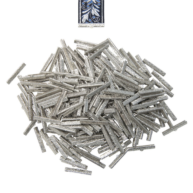 "38mm (1 1/2"") -150pcs- Platinum Silver Ribbon Clamps - Artisan Series - product images  of"
