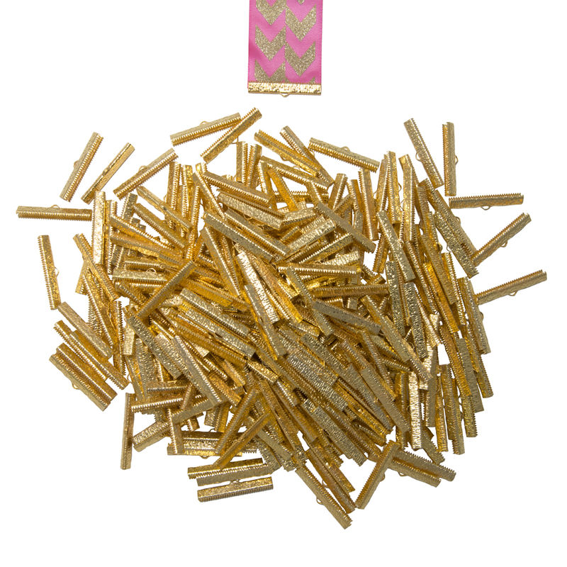 "40mm (1 9/16"")  -500pcs-  Gold Ribbon Clamps - Artisan Series - product images  of"