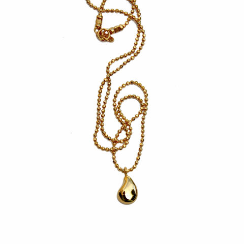 Silhouette,pendant,gold,Katerina Damilos, gold nugget pendant, gold charm necklace