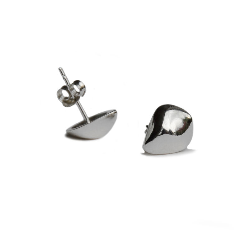 Silhouette tulip studs silver - product images