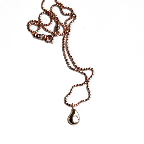 Silhouette,pendant,rose,gold,Katerina Damilos, rose gold nugget pendant, rose gold charm necklace