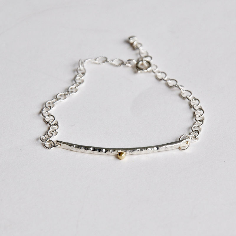Textured stackable bar bracelet - product images  of