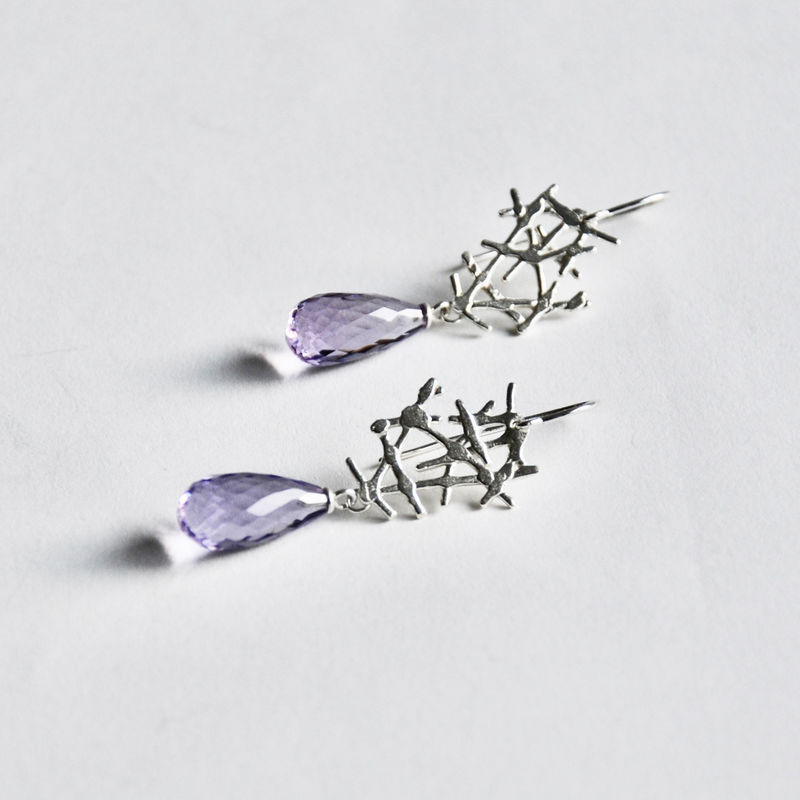 Free Spirit earrings with amethyst - product images  of