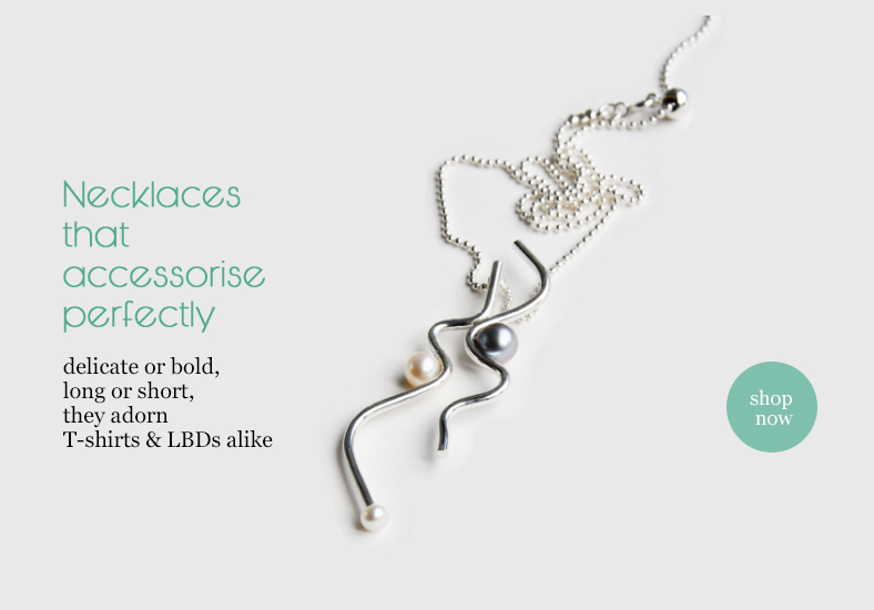 designer necklaces in silver and gold by Katerina Damilos