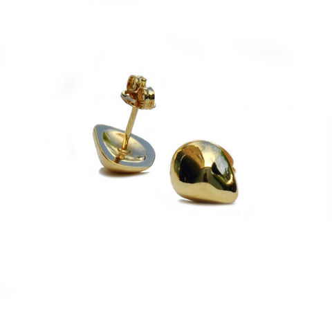 Silhouette,tulip,studs,gold,Katerina Damilos, gold nugget studs, irregular sculpted gold studs, rose gold studs