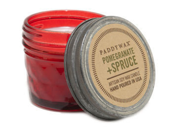 Pomegranate,+,Spruce,Mini,Jar,Candle,pomegranate, spruce, mini, jar, candle, paddywax, relish