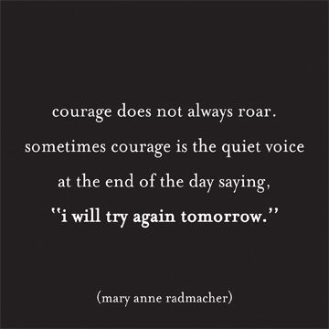 courage,does,not,roar,magnet,quotable, magnet