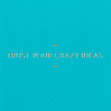 Trust,Your,Crazy,Ideas,Journal,motto journal, compendium
