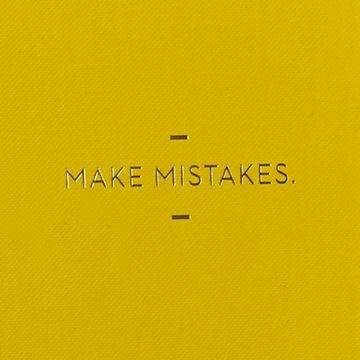 Make,Mistakes,Journal,motto journal, compendium