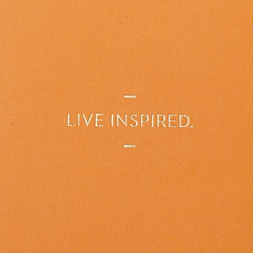 Live,Inspired,Journal,motto journals, compendium