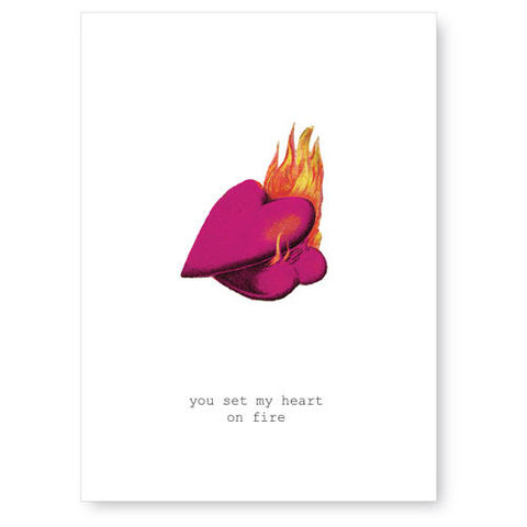 You,Set,My,Heart,On,Fire,Valentine's,Day,Card,tokyo milk, greeting card