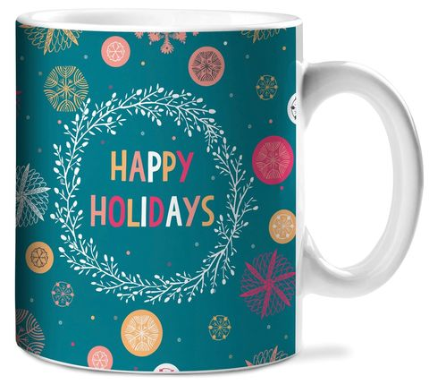 Happy,Holidays,Ceramic,Mug,christmas, studio oh, ceramic mug, holiday