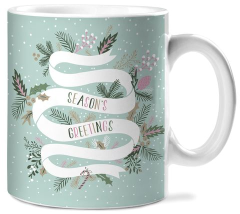 Seasons,Greetings,Ceramic,Mug,studio oh, christmas, holiday, ceramic mug