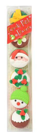 Christmas,Cupcake,Puzzle,Erasers,christmas, holiday, erasers, international arrivals