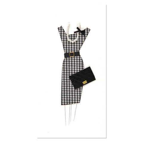 Houndstooth,Dress,with,Purse,papyrus, handmade, card, blank, express yourself, international, hong kong