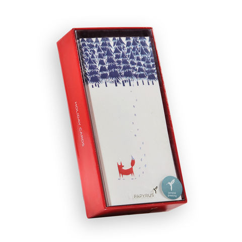 Fox,Snowy,Mountain,Box,Set,papyrus, handmade, box set, xbc, christmas, holiday, international, hong kong