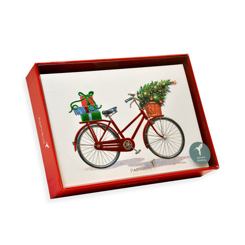 Embossed,Holiday,Bicycle,Box,Set,papyrus, handmade, christmas, xbc, box set, holidays, international, hong kong
