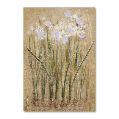 Paperwhites,papyrus, sympathy, flowers, art, artwork, nature, garden, greeting, card, international, hong kong