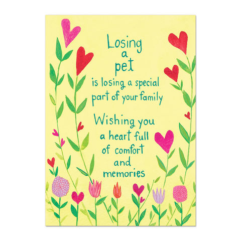 Losing,a,Pet,is,Family,papyrus, sympathy, handmade, greeting, card, pet, loss, international, hong kong