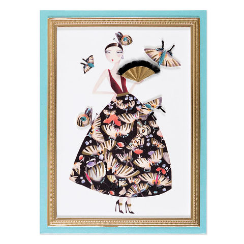 Fabulous,Butterfly,Girl,papyrus, handmade, greeting, card, blank, express yourself, flights of fancy, international, hong kong