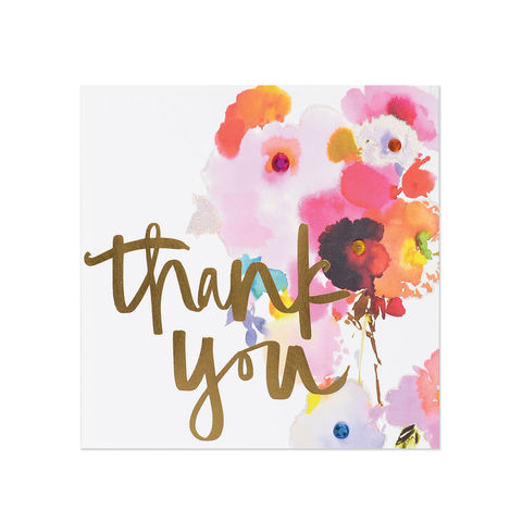 Thank you cards unique handmade notes of gratitude collection watercolorthankyouflowerpapyrus handmade greeting card m4hsunfo