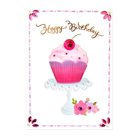 Birthday cards for her collection anas papeterie greeting pearlcupcakepapyrus handmade greeting card pearl cupcake bookmarktalkfo Images