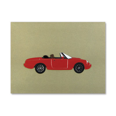 Red,Convertible,papyrus, handmade, greeting, card, blank, express yourself, red, convertible, international, hong kong