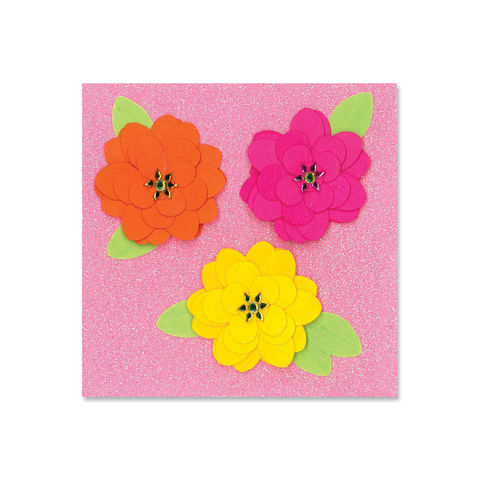 Warm,Fabric,Flowers,papyrus, handmade, greeting, card, flowers, floral, glitter, international, hong kong