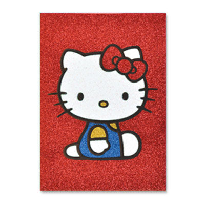 Glitter,Hello,Kitty,papyrus, handmade, greeting, card, hello kitty, glitter, blank, express yourself, international, hong kong