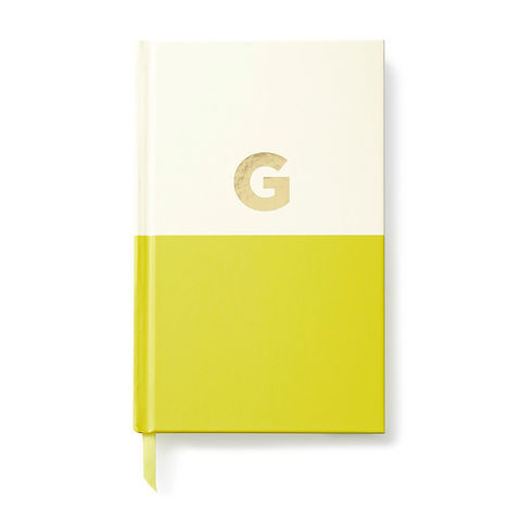 Dipped,Initial,Notebook,(G),by,Kate,Spade,New,York,kate spade, new york, dipped, initial, notebook, monogram, gold, foil, g, international