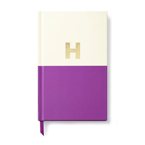 Dipped,Initial,Notebook,(H),by,Kate,Spade,New,York,kate spade, new york, dipped, initial, notebook, monogram, gold, foil, h, international