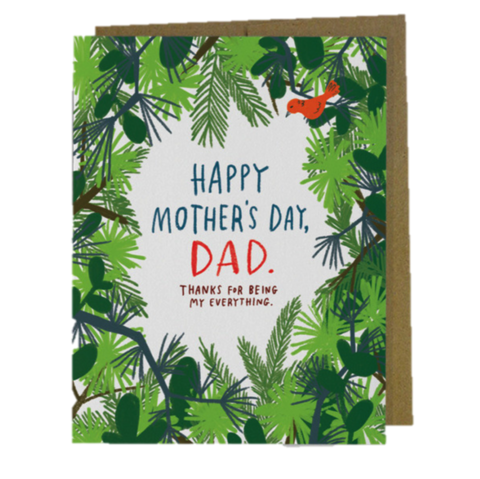 Happy,Mother's,Day,,Dad,Day,Card,mother's day, mom, moms, mothers, mother, may 8th, eighth, greeting, greetings, cards, card, handmade, recycled, environmentally, friendly, international, emily, mcdowell, studio
