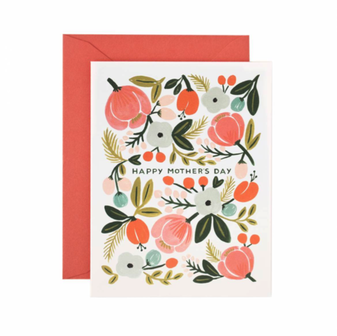 Blooming,Mother's,Day,Card,mother's day, mom, moms, mothers, mother, may 8th, eighth, greeting, greetings, cards, card, handmade, rifle paper co.